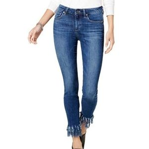 Joe's Jeans The icon fringe skinny ankle jeans 27
